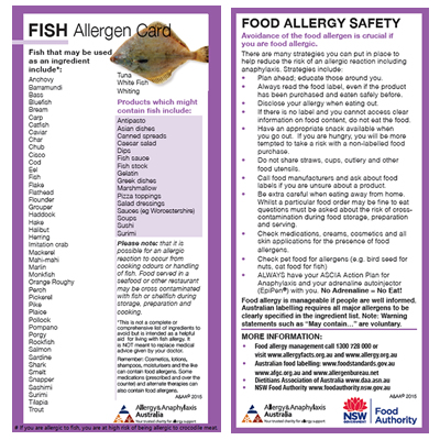 Fish Allergen Card