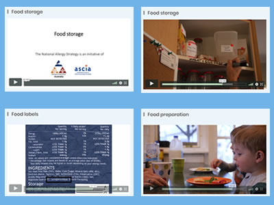 Food allergy management videos 2020