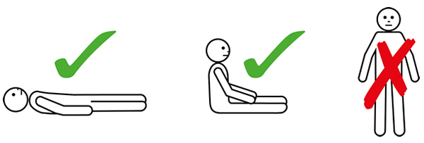 patient positioning for anaphylaxis